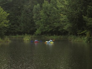pond kayaking