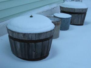 snow barrels