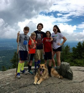 Kids on Stowe Pinnacle